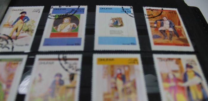 Briefmarken Sammlung Dhufar in Album https://www.ipfand.de/briefmarken-verkaufen