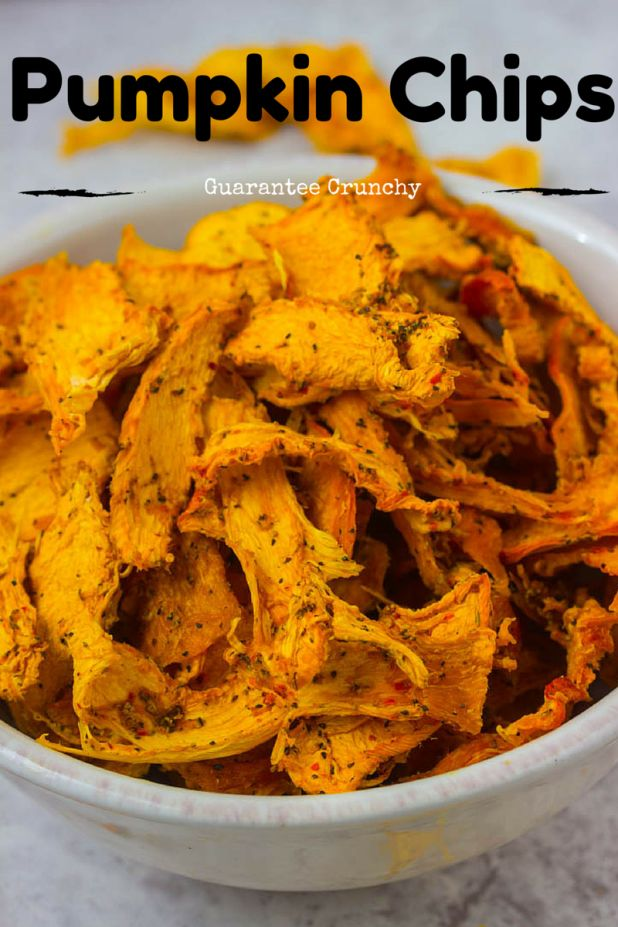 Looking for a healthy alternative to potato chips, try pumpkin chips! They are high in vitamin A and will give you that crunch your looking for!