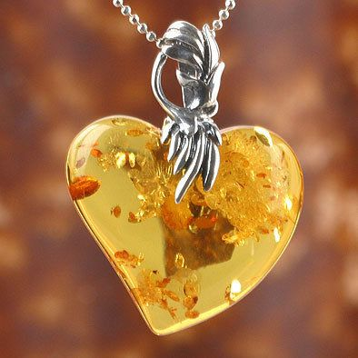 Amber Heart Pendant by The Russian Store, via Flickr