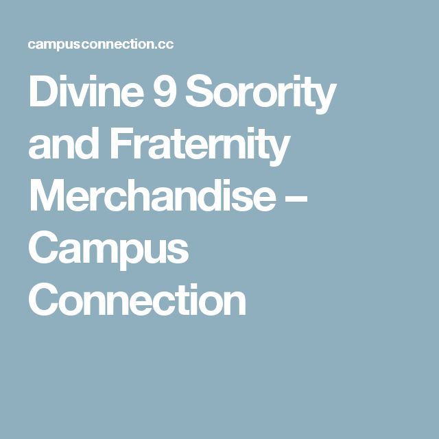 Divine 9 Sorority and Fraternity Merchandise – Campus Connection