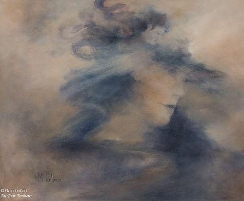 Madeleine Tailleur, 'Union avec l'âme', 20'' x 24''   Galerie d'art - Au P'tit Bonheur - Art Gallery