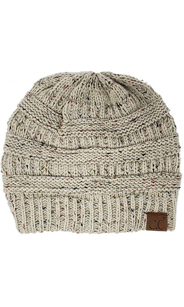 Funky Junque CC Confetti Knit Beanie - Thick Soft Warm Winter Hat - Unisex   f507afe0713c