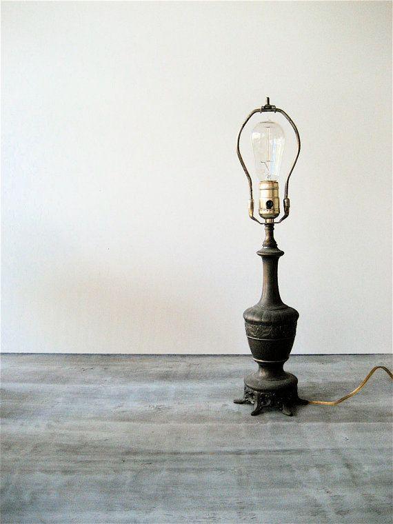 Vintage Cast Iron Lamp by lovintagefinds on Etsy