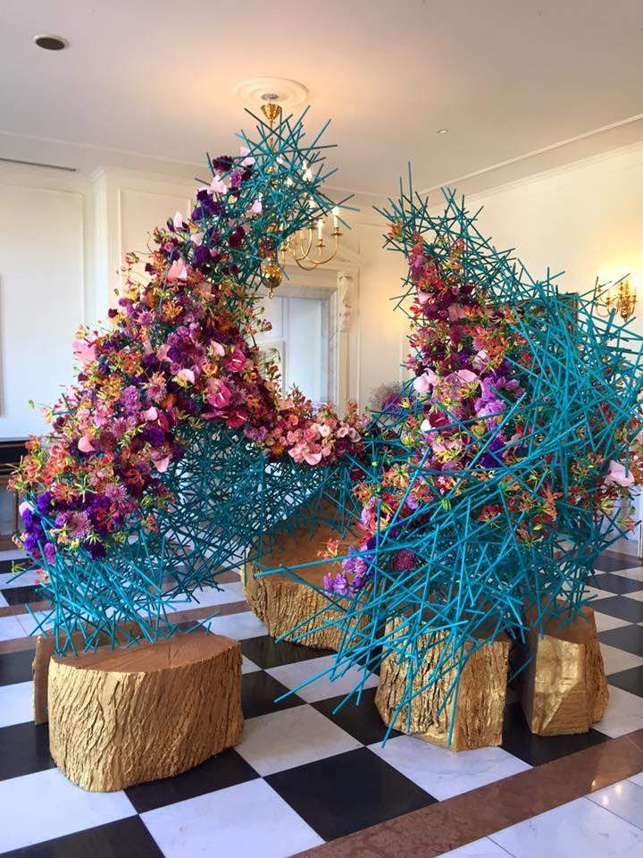 NEST installation at the international flower show in Japan 2015 by Natasha Lisitsa Waterlily Pond