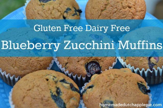 Gluten Free Dairy Free Blueberry Zucchini Muffins || Homemade Dutch Apple Pie