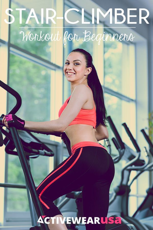 If you are new to exercising on the stair-climber, this workout will help you take advantage of its benefits and get you fit fast. #workout #stairs #fit