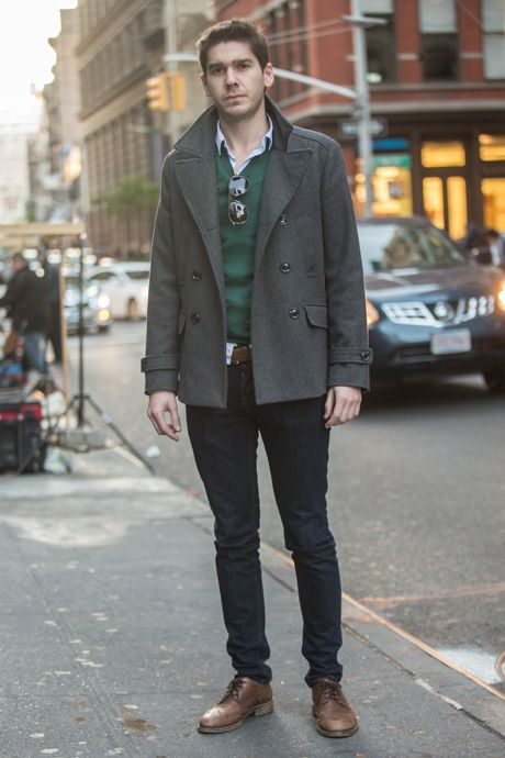 Street Style: Peacoat and a Pullover—Collegiate Style Gets Grown-up
