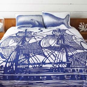 Thomas Paul: The Ship Duvet CoverGuest Room, Beach House, Nautical Beds, Thomas Paul, Duvet Covers, Doces Paul, Ships Duvet, Whales Pillows, Thomaspaul