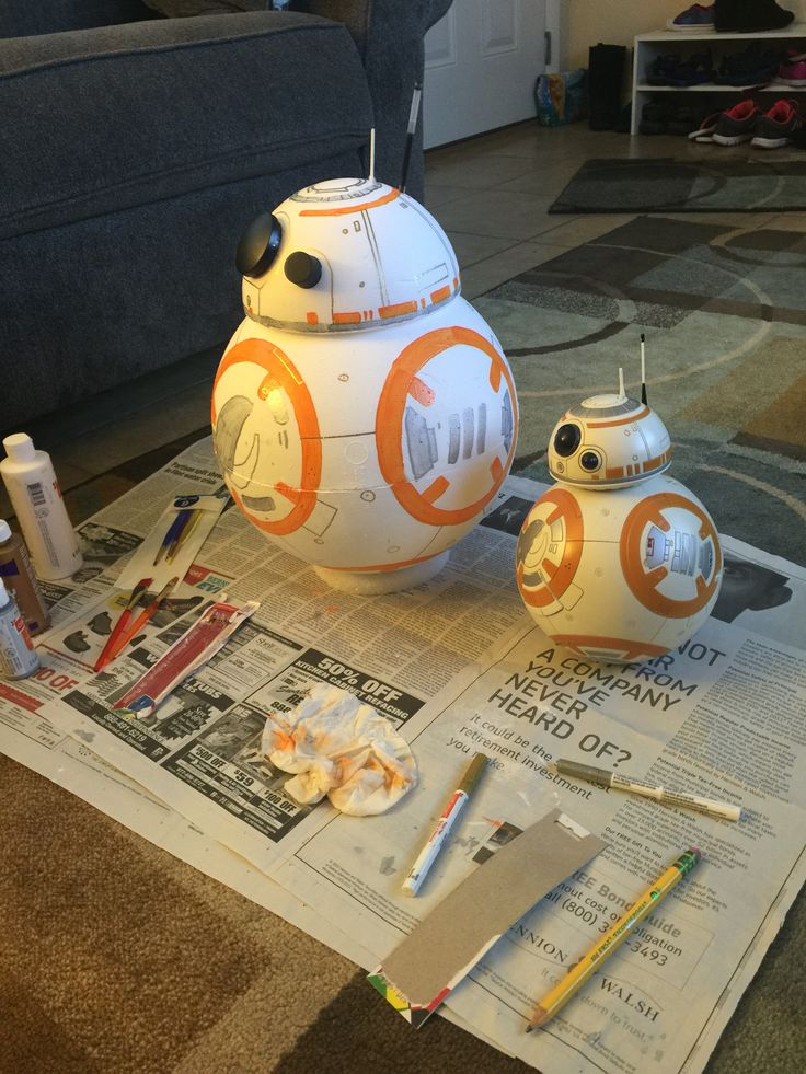 bb8 valentines day box made for my 6 year old star wars fan materials used are