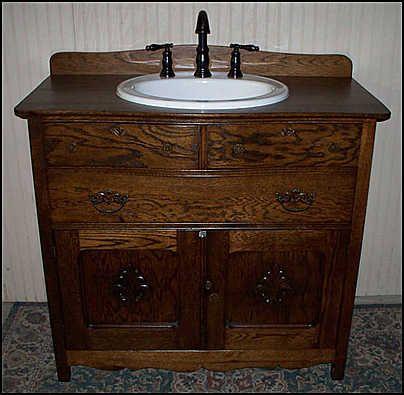 25 best ideas about antique bathroom vanities on - Antique bathroom sinks and vanities ...