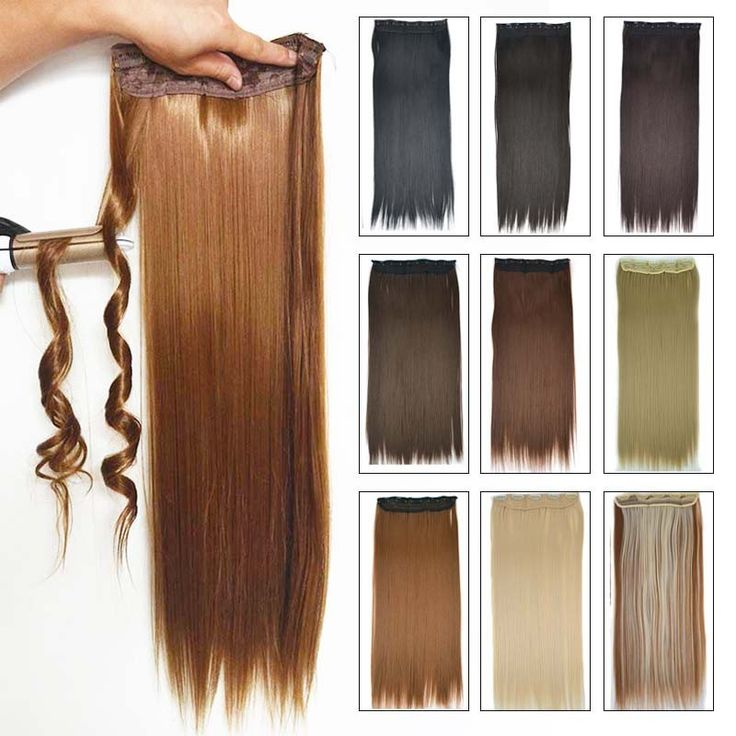 "5Clip Synthetic Clip in Hair Extensions  24"" 60cm 120g  synthetic Hair extension"