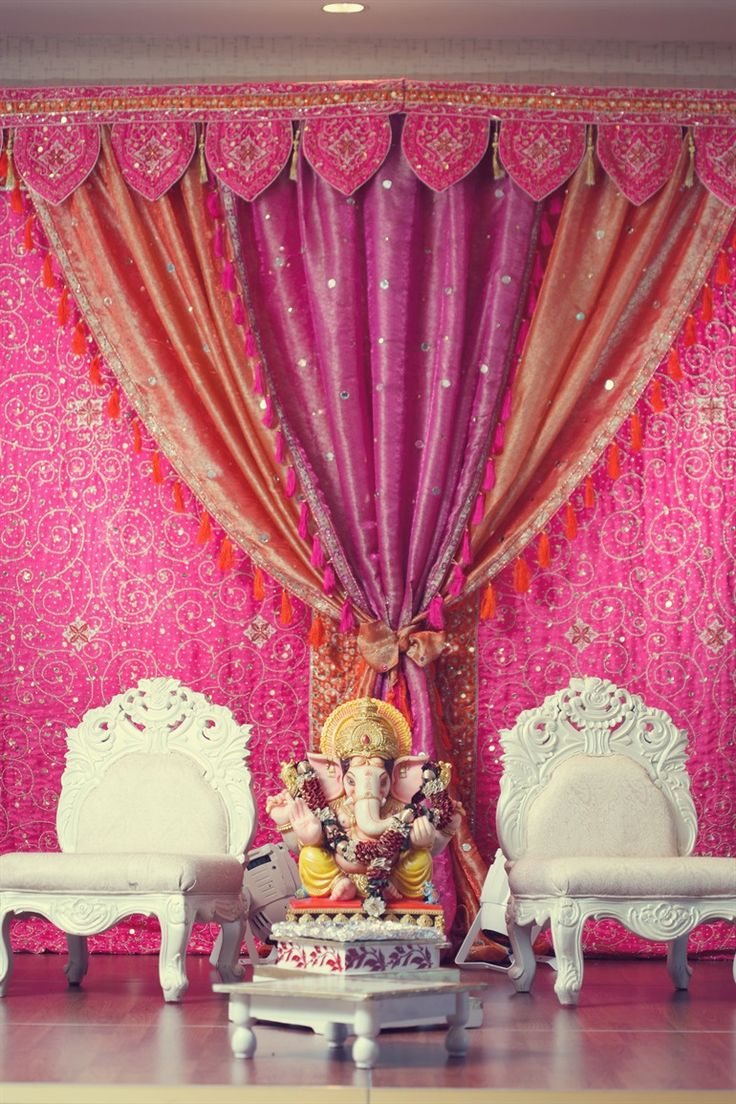 colorful drapes at an Indian engagement - would you have this at your wedding? | The Big Fat Indian Wedding Florida | Carrie Wildes Photo