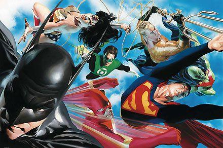 Liberty and Justice - Alex Ross - World-Wide-Art.com - $1250.00 #AlexRoss #Batman #Superman