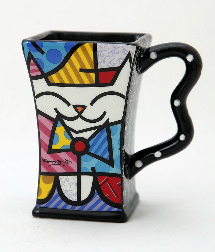Cat face mug by Britto