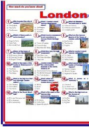 London worksheets