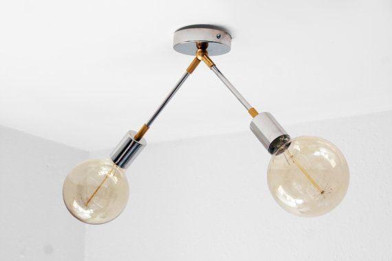 Moder montaje empotrado techo luz  doble por LightingLampDesign