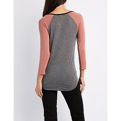 Colorblock Raglan Tee