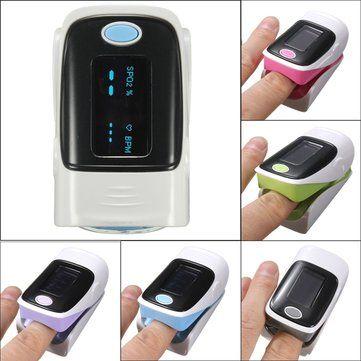 OLED Pulse Finger Fingertip Oximeter Blood SpO2 PR Heart Rate Monitor at Banggood