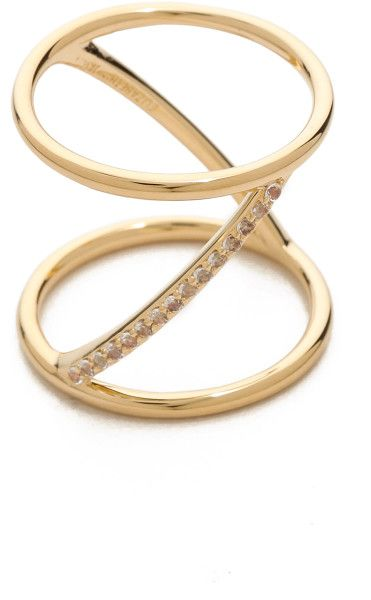 Elizabeth and James Gold Bauhaus Bar Knuckle Ring @Shopbop