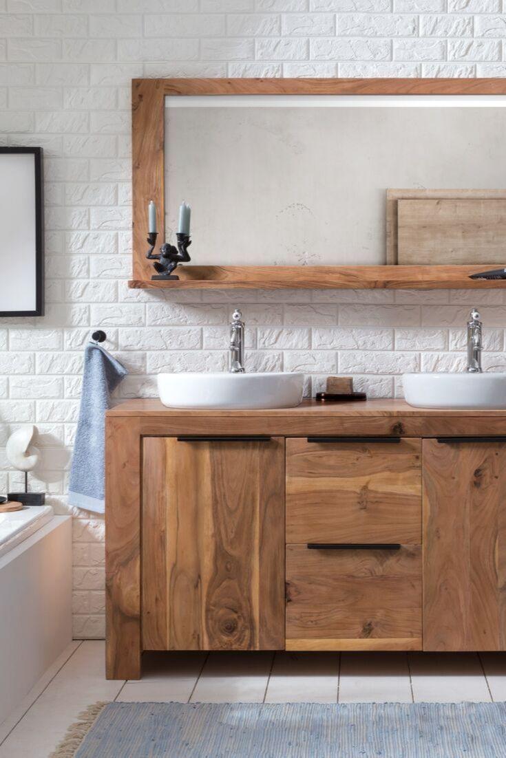 Waschtisch Auckland Waschtisch Badezimmer Rustikal Badmobel Holz