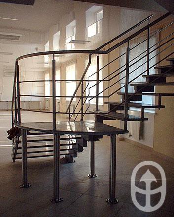 Сейчас компания занимается не только дизайнерским и архитектурным металлом высокого качества, но и создаёт на основе этих конструкций изделия из дерева, стекла и камня. Лестница для Водоканала