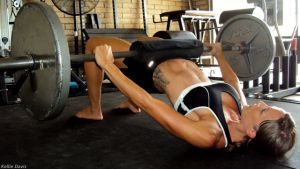 Glute Bridge with Weight
