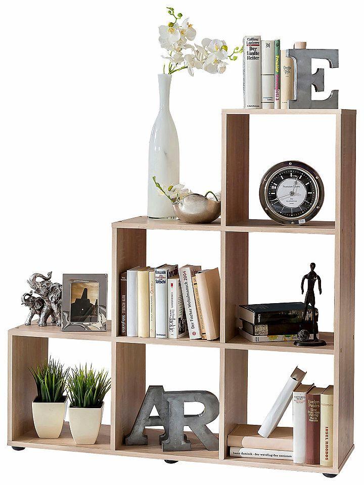 Treppen-Regal klein »Kabu« Jetzt bestellen unter: https://moebel.ladendirekt.de/wohnzimmer/regale/raumteiler/?uid=fd35249a-e489-5efa-a0a8-6925bd23c136&utm_source=pinterest&utm_medium=pin&utm_campaign=boards #wohnzimmer #raumteiler #regale