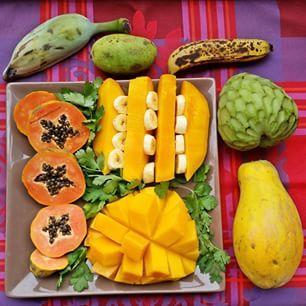 Instagram photo by doucefrugalite - Divine edenic food for the fit ones!  C'est divin! #papaya #papaye #lovefruit #crudivore #vegan #paléo #mango #mangue #fruit #fruits #frugivore #banana #banane #doucefrugalite #minibananes #babybanana #cilantro #coriandre #anone #cherymoya #chérimoya #edenfood #divine #paradise #paradis #fruitplate #eatclean #rawvegan #811rv #fullyraw