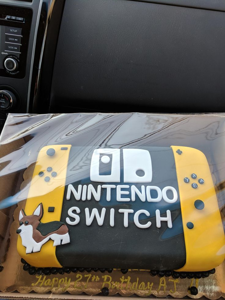 Turned 27 today and my wife had a Switch cake made.  http://bit.ly/2lnzap3 #nintendo
