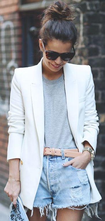 top knottin' // blazer rockin'