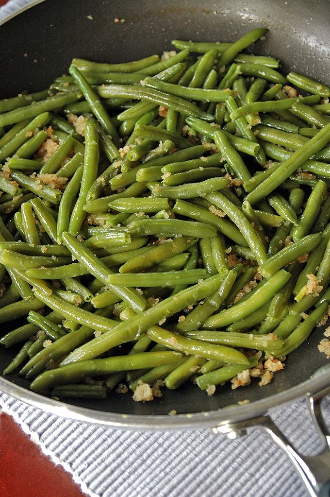 Green Beans with Bread Crumbs - Cooking with Mamma C