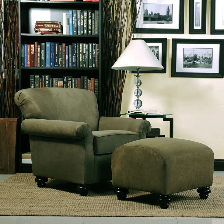 Handy Living Capri Moss Green Microfiber Arm Chair and Ottoman by Handy  Living. 17 Best images about bedroom chairs on Pinterest