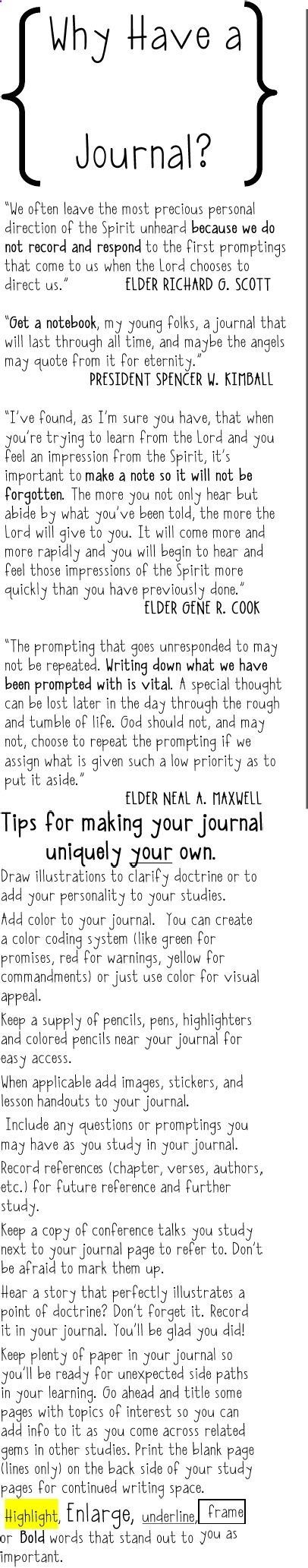 LDS journaling tips for a more fulfilling and spiritual journaling experience. I need to journal