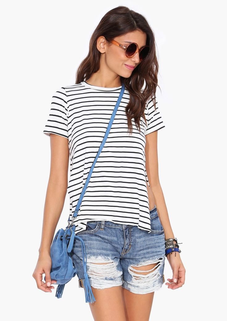 Stripe Tunic Tee Shirt