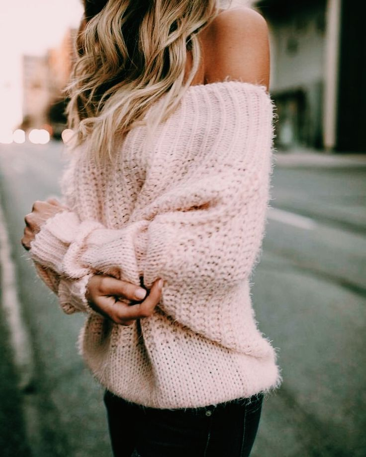Pink sweater - teen fashion - women's fashion