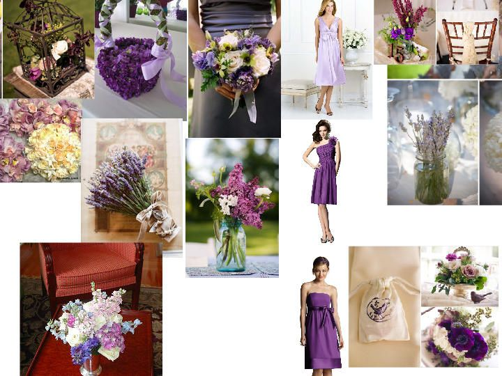 Purple and Green-A Shabby Chic Garden Wedding : PANTONE WEDDING Styleboard : The Dessy Group