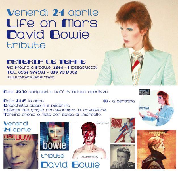 Life on Mars David Bowie Tribute da Ristorante Pizzeria Enoteca Osteria Le Terme a Massaciuccoli