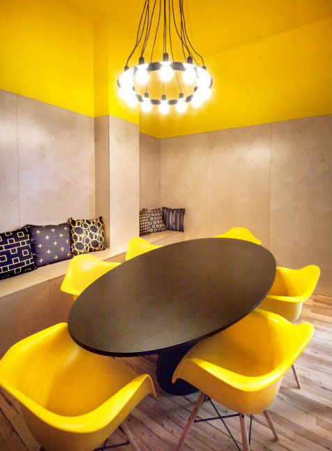 World 39 s coolest offices 2015 conference room startup for Office design yellow