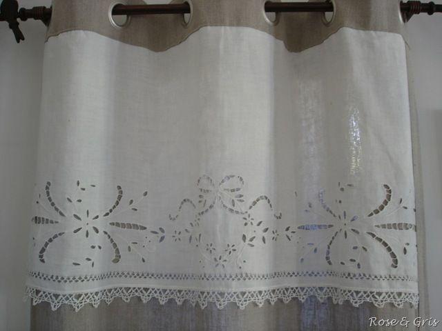 De L Art D Utiliser Les Restes Rose Gris Rideaux Curtains
