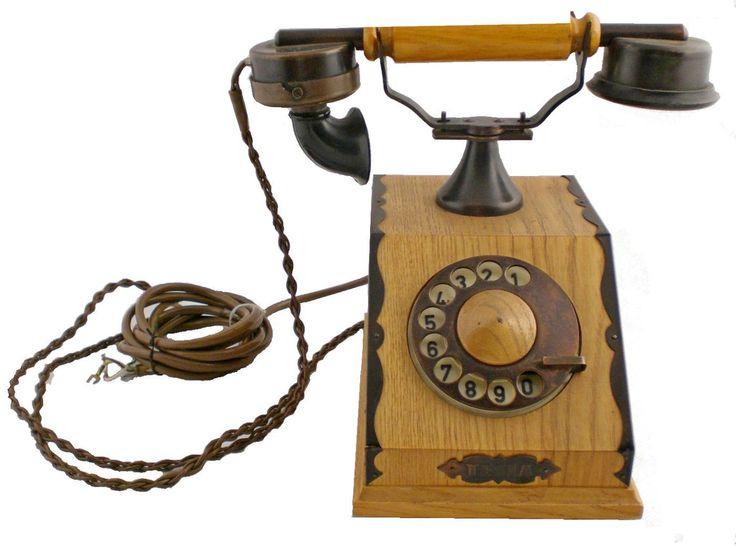 Vintage Wood & Metal Desktop TESLA Phone Telephone Set. On isradeal.com the shipping is always ZERO.