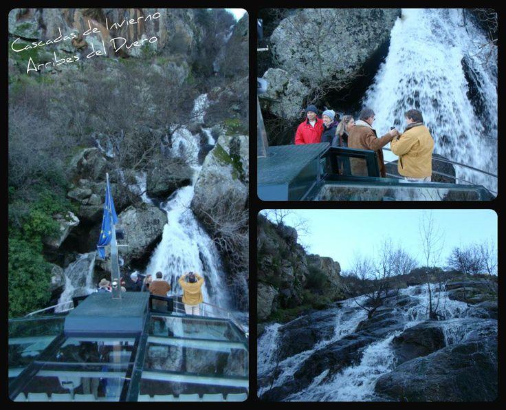 Cascadas de invierno en Arribes del Duero desde el Crucero Ambiental