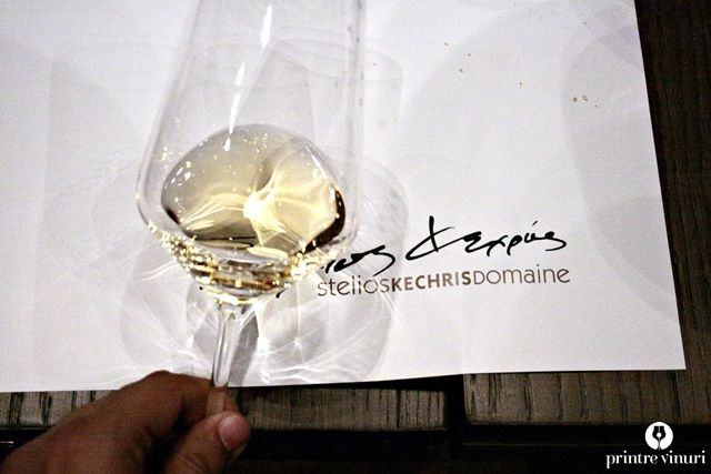 Retsina Tear of the Pine 2008, Stelios Kechris Domaine in the glass.