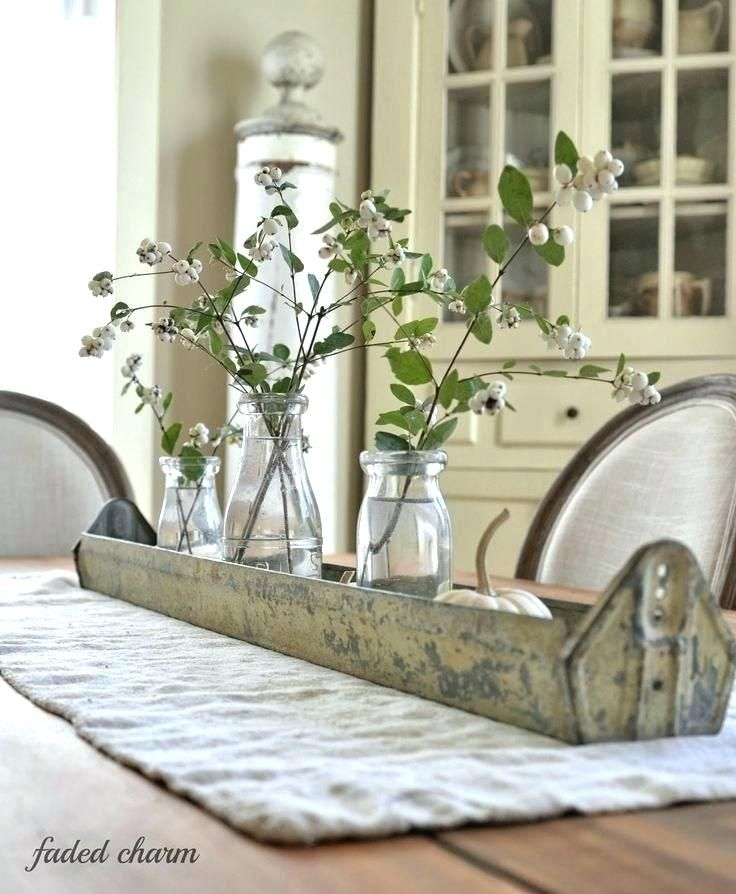 Rustic Dining Table Centerpieces Best Farmhouse Ideas On