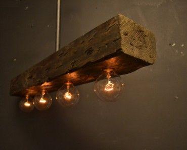 Reclaimed Wood Chandelier Light Fixture