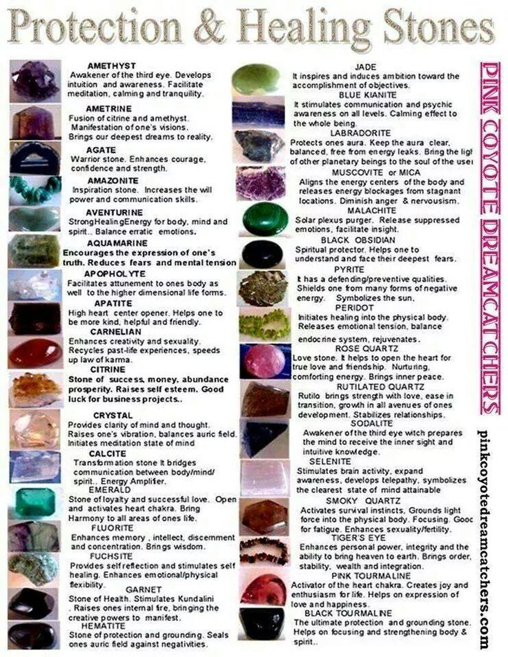 GUIDE ...Stones for PROTECTION & HEALING                                                                                                                                                                                 More