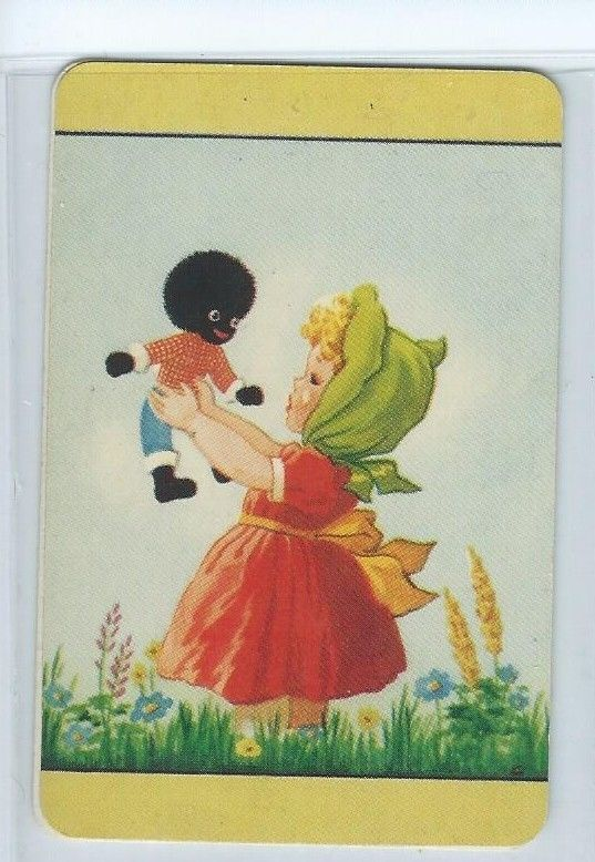 *COLES SWAP CARD*  UN - NAMED - LITTLE GIRL IN GREEN SCARF WITH DOLL.