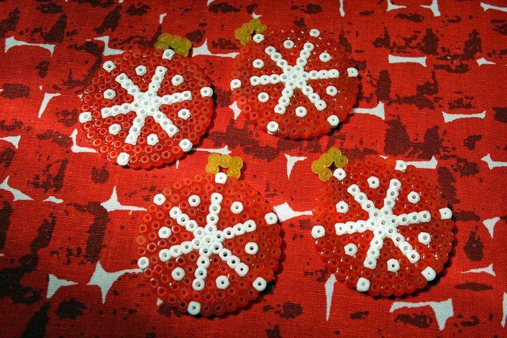 Hama bead ornaments for christmas