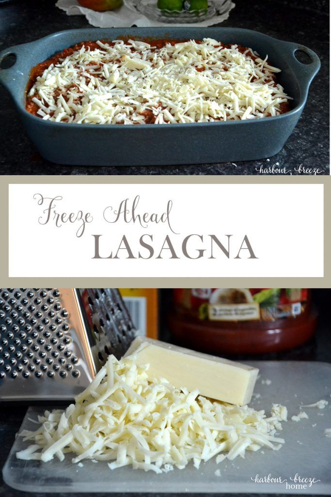 FREEZE AHEAD LASAGNA* Free up valuable time during this busy holiday season by tucking some meals into your freezer.This freeze ahead lasagna is simple to prepare and a favorite! http://sweetteaandsavinggraceblog.com/freeze-ahead-lasagna/?utm_campaign=coschedule&utm_source=pinterest&utm_medium=Sweet%20Tea%2C%20LLC&utm_content=Freeze%20Ahead%20Lasagna