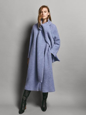f08590f7 Spring Summer 2018 Women´s LIMITED EDITION WOOL COAT WITH DETACHABLE SCARF  at Massimo Dutti for 595. Effortless elegance!