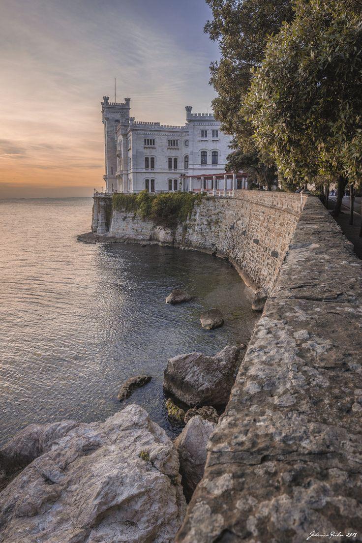Castello di Miramare, Bay of Grignano, Trieste providence, Friuli - Venezia Giulia region